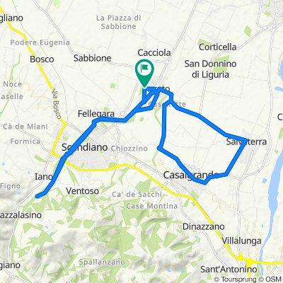 Da Via Massimo D'Antona 1, Arceto a Via Roberto Ruffilli 4, Arceto