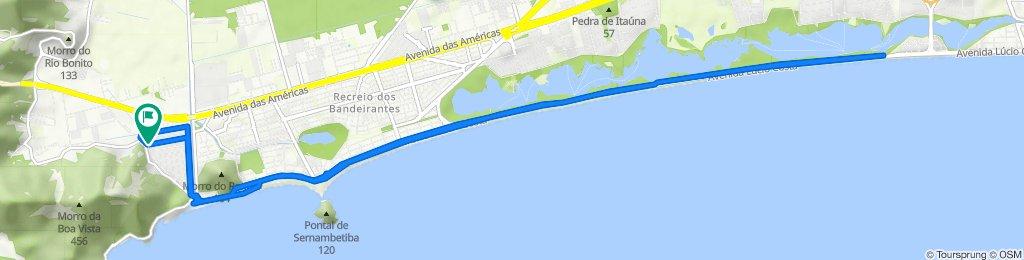 De Rua Fernando de Santa Cruz, 10, Rio de Janeiro a Rua Fernando de Santa Cruz, 21, Rio de Janeiro