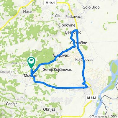 Modran-Glogovac-Ljeskovac-Čardačine-Kojčinovac-Janja pa Modran