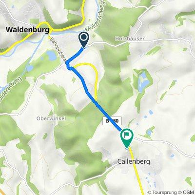 Am Hellmannsgrund 1, Waldenburg nach Altenburger Straße 10K, Callenberg