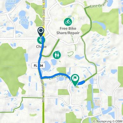 4100 N Alafaya Trail, Orlando to 3100 Technology Pkwy, Orlando