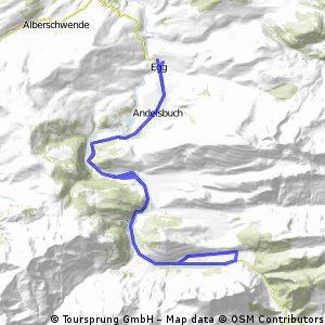 Durch die Berglandschaft des Bregenzer Waldes
