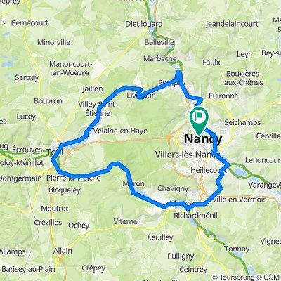 7.Tag: Nancy- Moselschleife- Nancy