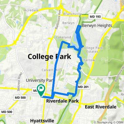 6214 44th Pl, Riverdale Park to 4403 Queensbury Rd, Riverdale Park