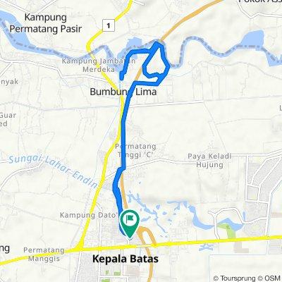 Jalan Bertam Indah 4, Kampung Tok Bedur to Jalan Bertam Indah 4, Kampung Tok Bedur