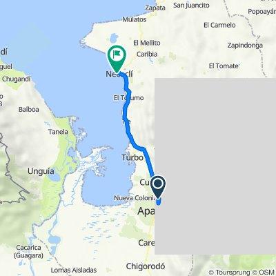 De Santa Cruz - Nueva Colina a Carrera 50a 5422, Necoclí