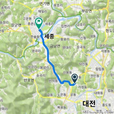 210-59 Sinseong-dong, Yuseong-gu to 178-398 Eojin-dong, Sejong-si