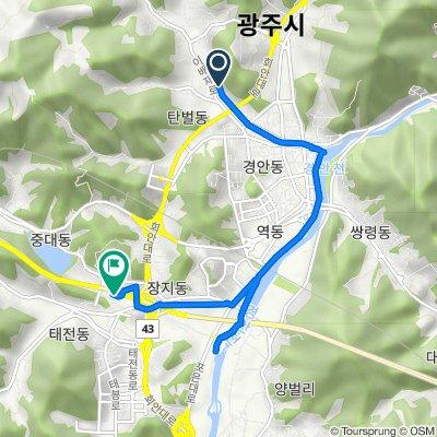Route to Gwangnam-dong 15-28, Gwangju-si