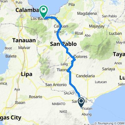 Route from San Juan - Laiya Road