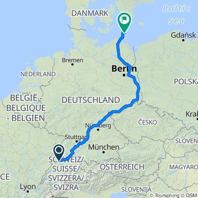 Bikepacking Trans Germany Route - Custom