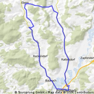 Breitengüßbach Ebern und zurück