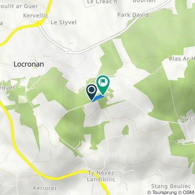 De 677 Route de Kroas Keben, Locronan à 875 Route de Kroas Keben, Locronan