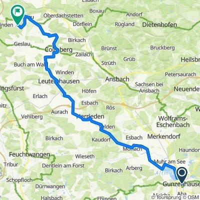 Mi. 69 km Gunzenhausen - Windelsbach