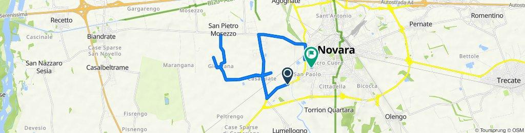 Da Corso Vercelli 89, Novara a Via Lagrange G. Luigi 26, Novara
