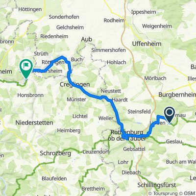 Do. 53 km Windelsbach - Weikersheim
