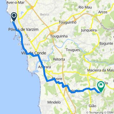 De Avenida Vasco da Gama 150–250, Póvoa de Varzim a Rua das Pias 514–594, Vila do Conde