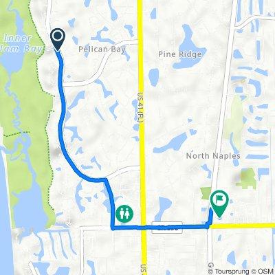 6608–6686 Pelican Bay Blvd, Naples to 1427 Pine Ridge Rd, Naples