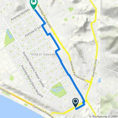 De Avenida Maria Reiche 75, Cercado de Lima a Pasaje Simon Bolivar 160, Villa EL Salvador