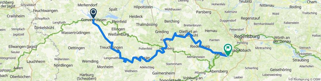 Altmühltal Radweg klassisch