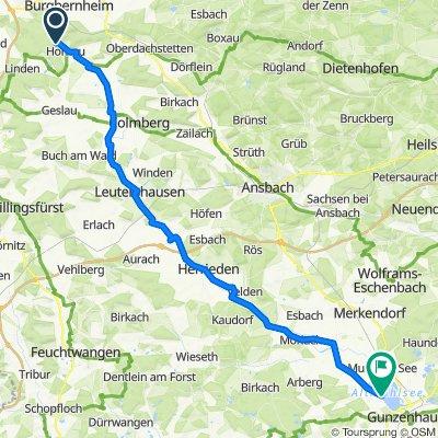 Siedlung Erlach 1, Burgbernheim nach Unnamed Road, Gunzenhausen