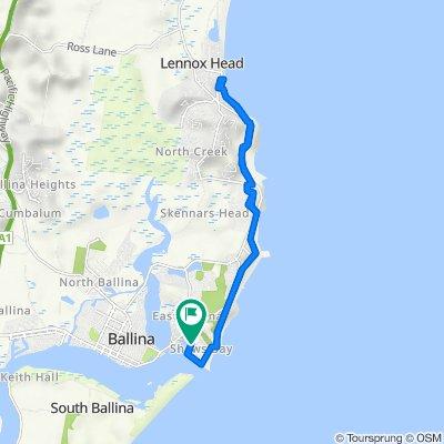 Kestrel Way, East Ballina to Kestrel Way, East Ballina