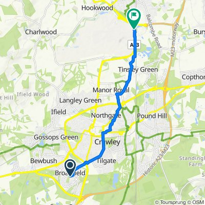 21 Greenwood Court, Webb Close, Crawley to London Road, London Gatwick Airport, Gatwick