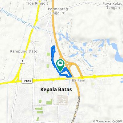 Lorong Bertam Indah 4/7, Kampung Tok Bedur to Jalan Bertam Indah 4, Kampung Tok Bedur