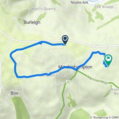 Bell Lane, Minchinhampton, Stroud to 3 Farm Close, Stroud