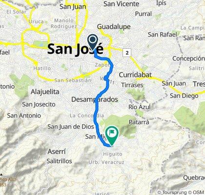 De Calle 25 83, San José a Unnamed Road, Los Guido