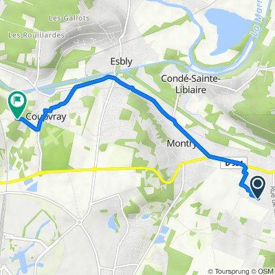 De 28 Rue du Champ de la Ville, Saint-Germain-sur-Morin à 9 Route de Chalifert, Coupvray