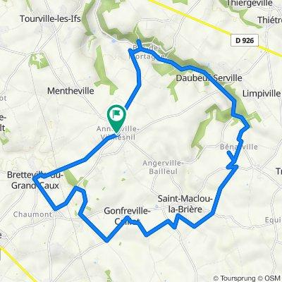 De Rue de la Mairie 1B, Annouville-Vilmesnil à D69 5, Annouville-Vilmesnil