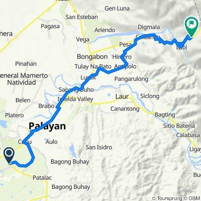 Bangad-Fort Magsaysay Road, Cabanatuan City to Nueva Ecija-Aurora Road, Bongabon