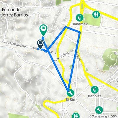 De Boulevard Diamante 2, Xalapa-Enríquez a Luis D. Colosio 25, Xalapa-Enríquez
