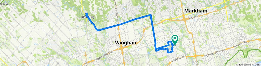 North York to Kleinburg (and back)