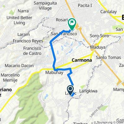 Carmona to Southwoods Avenue 19, Biñan