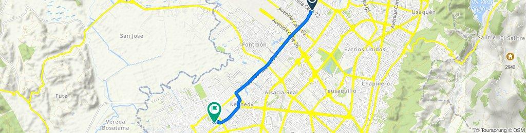 De AV. C. de Cali - CL 72B, Bogotá a Calle 48a Sur 80-16, Bogotá