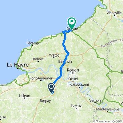 Brionne - Barentin - Quiberville - Dieppe