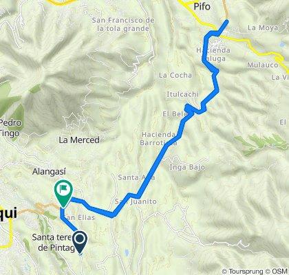 De Principal de San Francisco de Alpahuma a Carretera Panamericana, Quito