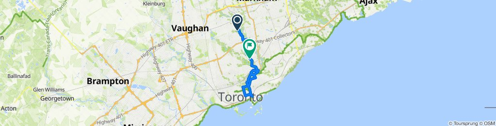 Bayview and Finch to Downtown Toronto (Long route)