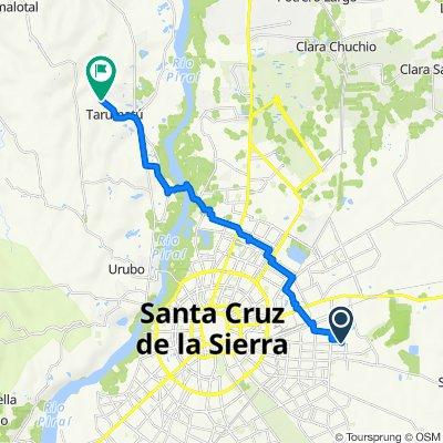 De Avenida Cumavi, Santa Cruz de la Sierra a Unnamed Road
