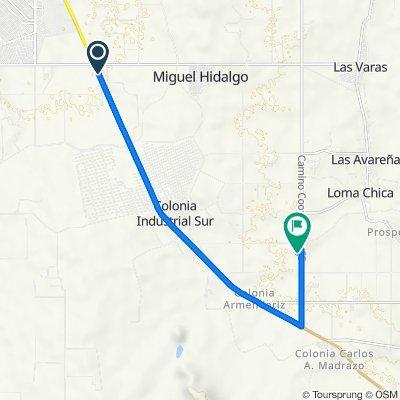 Ruta desde Carretera Jiménez - Chihuahua, Delicias