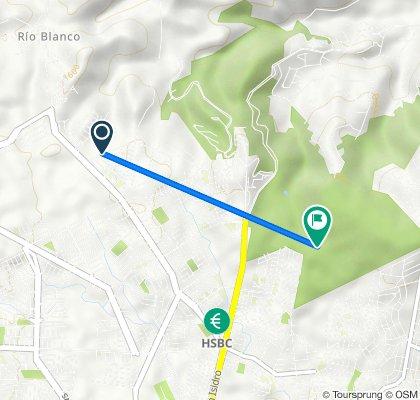 Ruta desde Circuito de la Calesa 115–119, Zapopan