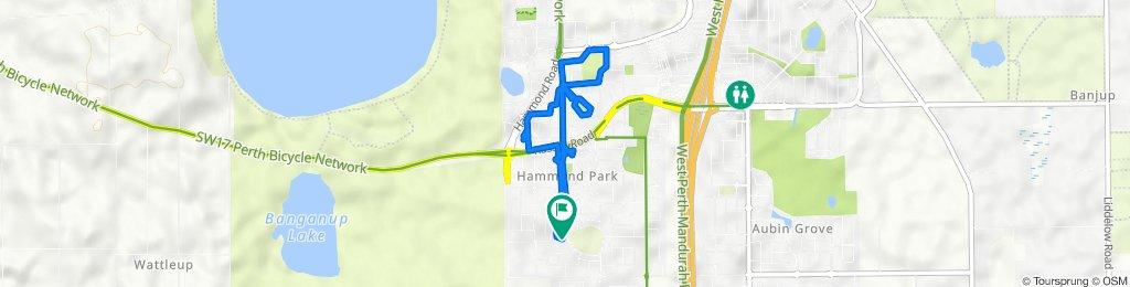 60 Macquarie Boulevard, Hammond Park to 2 Cooli Street, Hammond Park