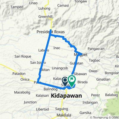 Kidapawan-Magpet-Pangaoan Road, Kidapawan City to Kidapawan-Ilomavis Tourist Road, Kidapawan City