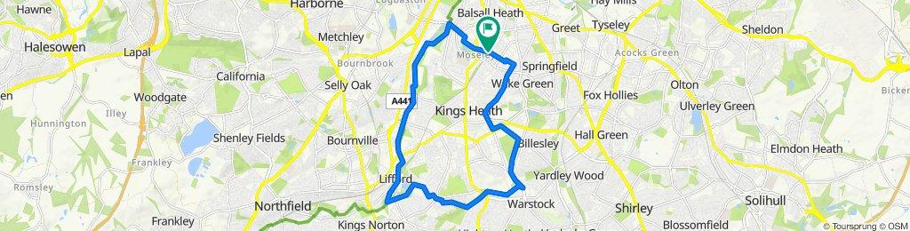 66–98 Woodbridge Road, Birmingham to Woodbridge House, 47 Woodbridge Road, Birmingham