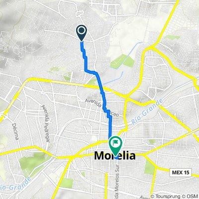 De Calle Camino Real 67, Morelia a Avenida Morelos Sur 89, Morelia