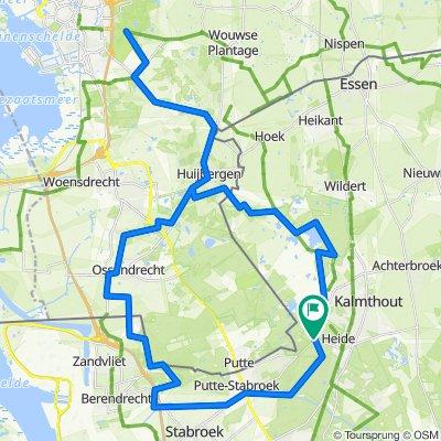 Route zaterdag 5 februari 2021