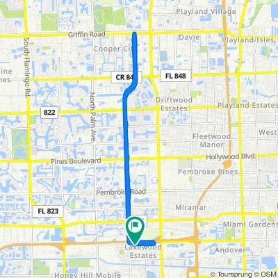 3451 NW 214th St, Miami Gardens to 3451 NW 214th St, Miami Gardens