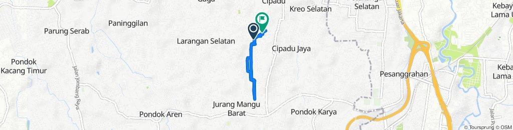 Jalan Merak 7, Kecamatan Larangan to Jalan Haji Mahbud 25, Kecamatan Larangan