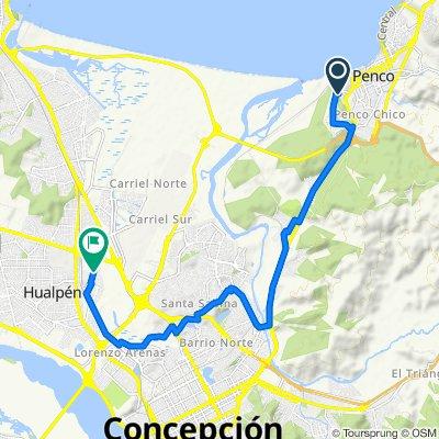 De Pasaje Luis Cruz Martínez 155, Penco a Pasaje San Vicente 450, Hualpén